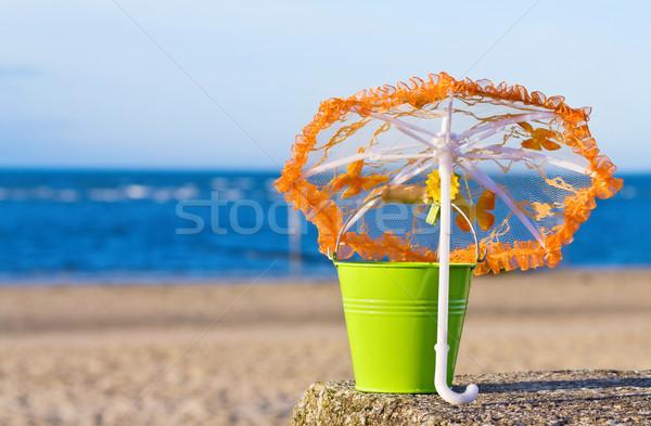 Verão férias praia dourado quarto mar Foto stock © Eireann
