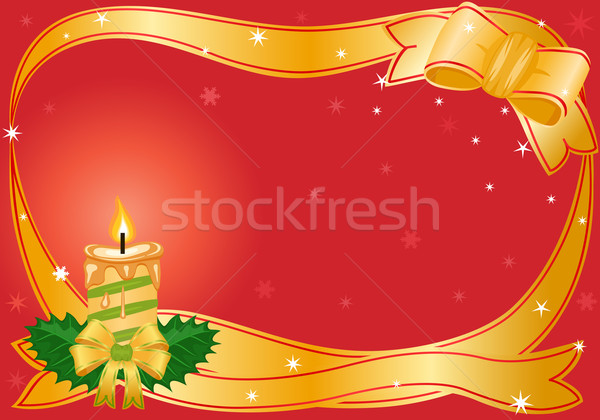 Christmas festive candle Stock photo © Eireann