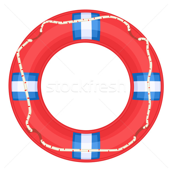 Red Life Buoy - vector Stock photo © Eireann