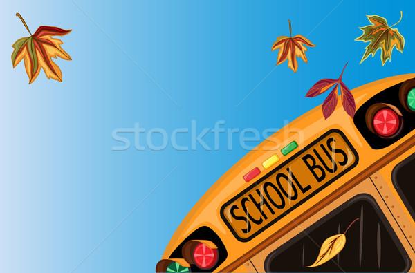 Okula geri okul otobüsü sonbahar dosya eps tüm Stok fotoğraf © Eireann