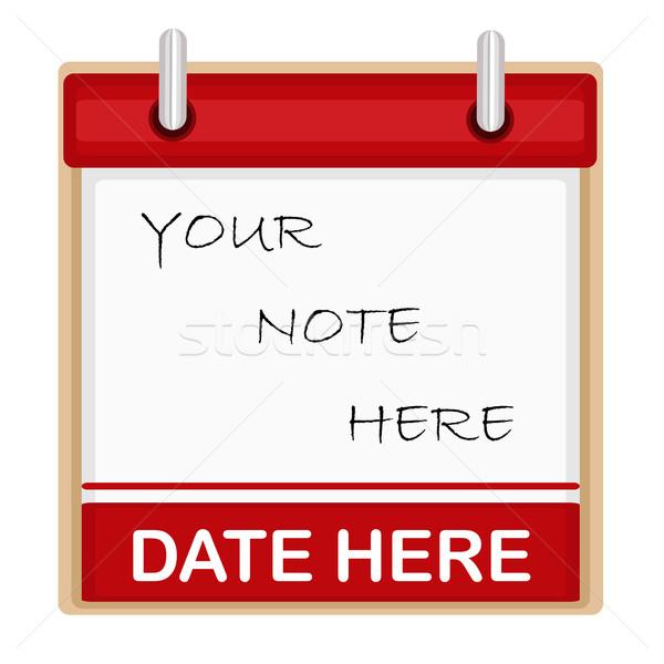 Kalendarza pokój tekst odizolowany biały wektora Zdjęcia stock © Eireann