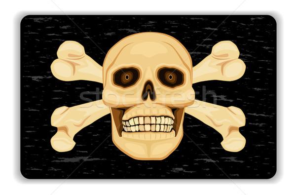 警告 危険 死 人間 頭蓋骨 ストックフォト © Eireann
