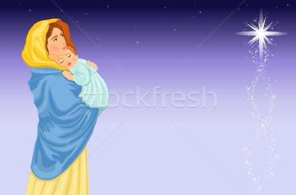 Virgem bebê jesus natal cena eps Foto stock © Eireann