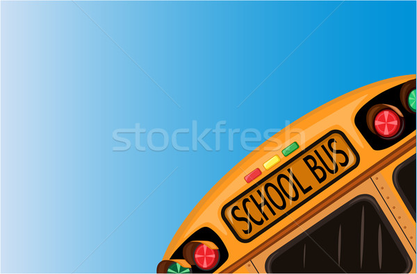 School bus over blue sky Stock photo © Eireann