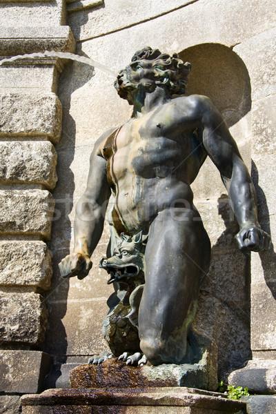 Deus água fonte grego estátua arte Foto stock © Eireann