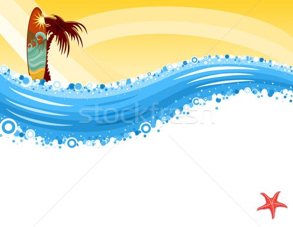 Sörf tropikal plaj yaz eğlence sörf tatil Stok fotoğraf © Eireann