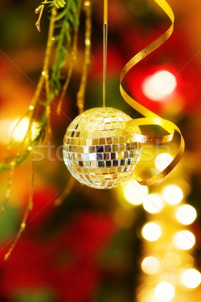 Stock photo: Christmas magic with disco bauble decoration