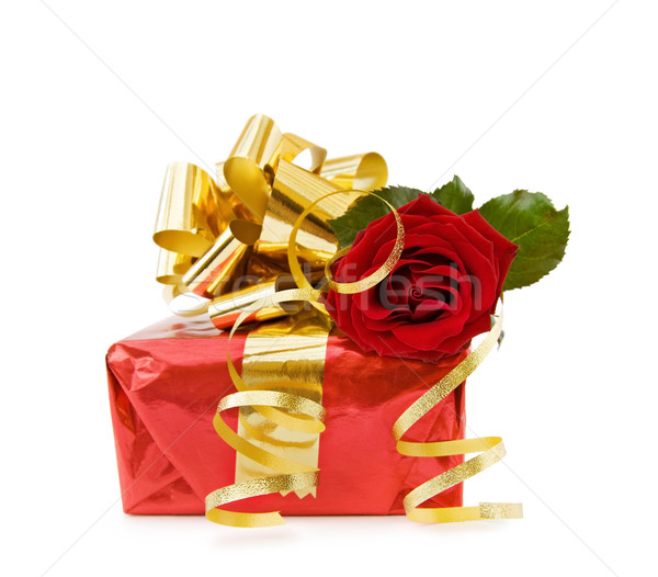 Festive gift with rose Stock photo © Eireann