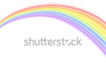 ベクトル 虹 白 カラフル eps ストックフォト © Eireann