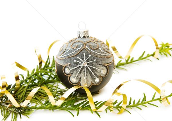 Natal pinheiro ramo decoração tradicional Foto stock © Eireann