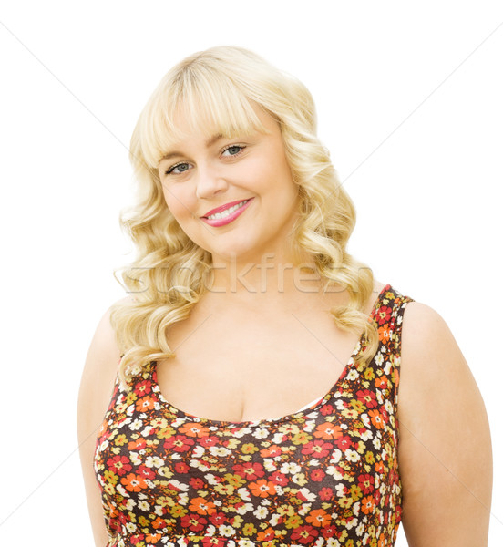 Portrait of beautiful young woman smiling Stock photo © Eireann