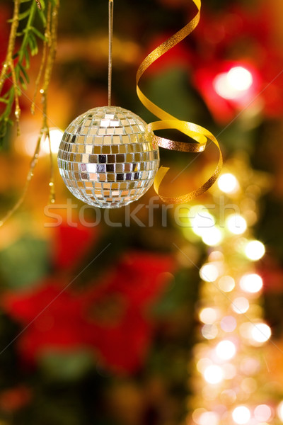 Karácsony diszkó csecsebecse mágikus diszkógömb dekoráció Stock fotó © Eireann