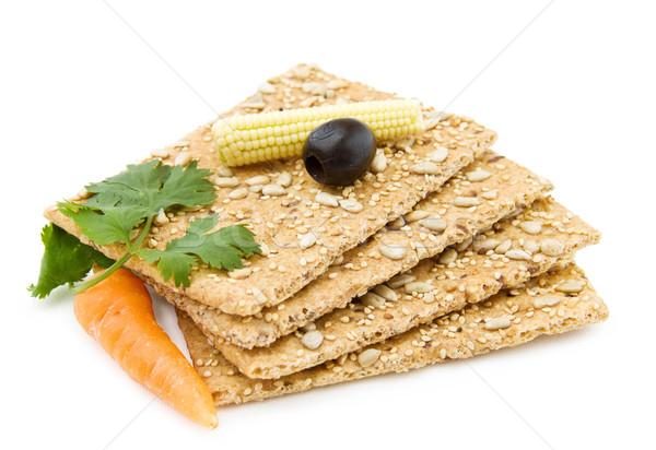 Organiczny ser przekąska zdrowych przekąski oliwek Zdjęcia stock © Eireann