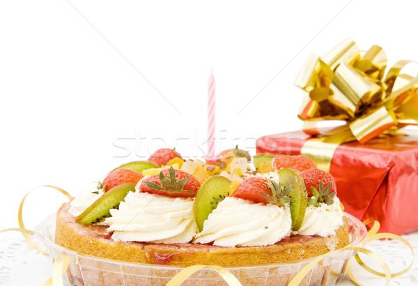 お誕生日おめでとうございます ケーキ 贈り物 孤立した ストックフォト © Eireann