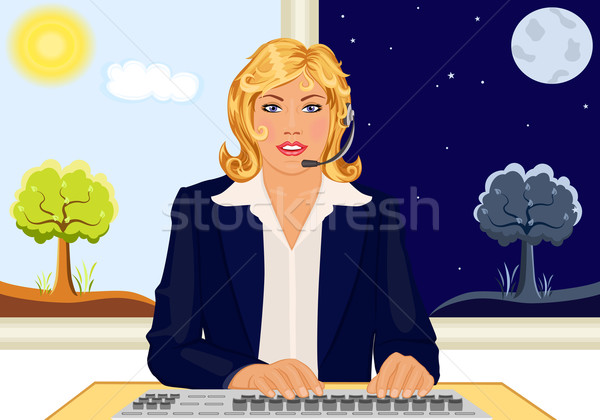 Customer service 24 Hours Stock photo © Eireann