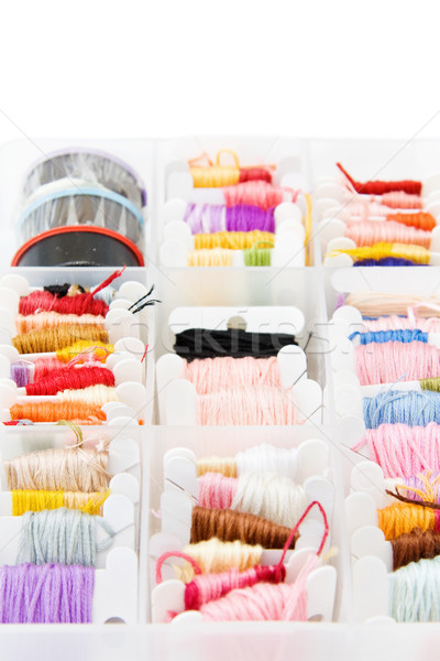 Colorful embroidery threads Stock photo © Eireann