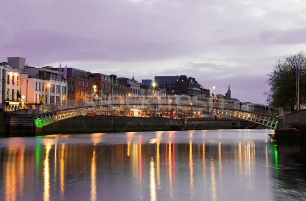 The Hapenny Bridge - Dublin  Stock photo © Eireann