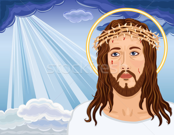 The Resurrection - Portrait of Jesus Christ Stock photo © Eireann