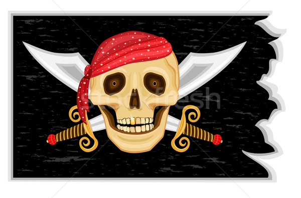 Jolly Roger Pirates' Flag Stock photo © Eireann