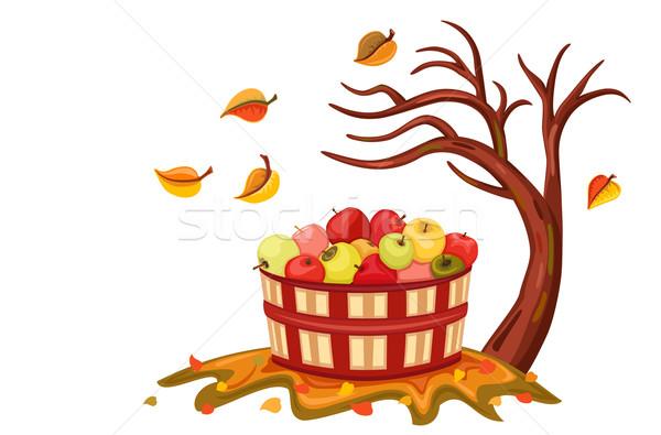 Rico maçã colheita outono beleza Foto stock © Eireann