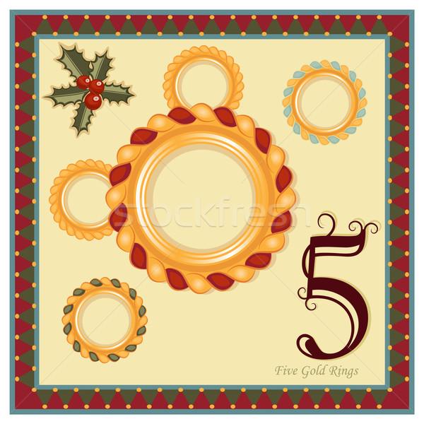 12 クリスマス 日 5 金 リング ストックフォト © Eireann