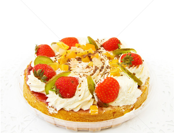 Delicious strawberry cake Stock photo © Eireann
