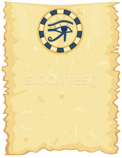 Egyptian papyrus with Eye of Horus Stock photo © Eireann