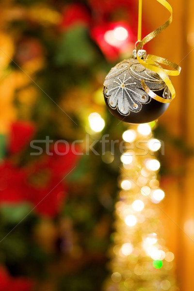 Christmas magic with black bauble Stock photo © Eireann