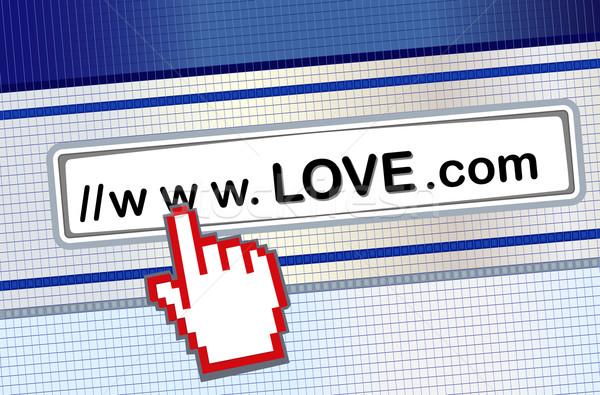 Internet namoro amor vetor arquivo Foto stock © Eireann