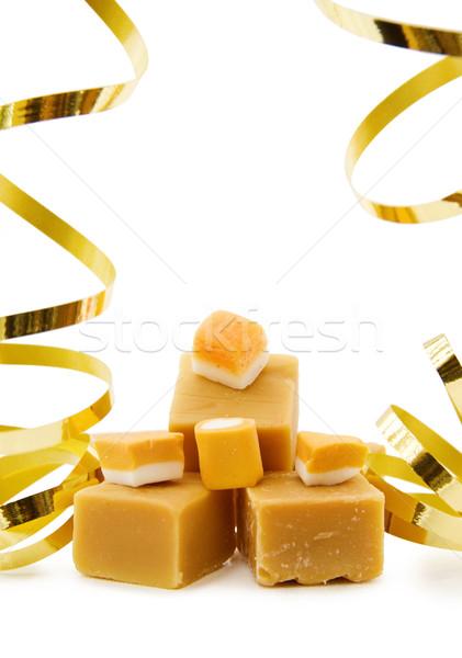 Caramel fudge and vanilla candy  Stock photo © Eireann