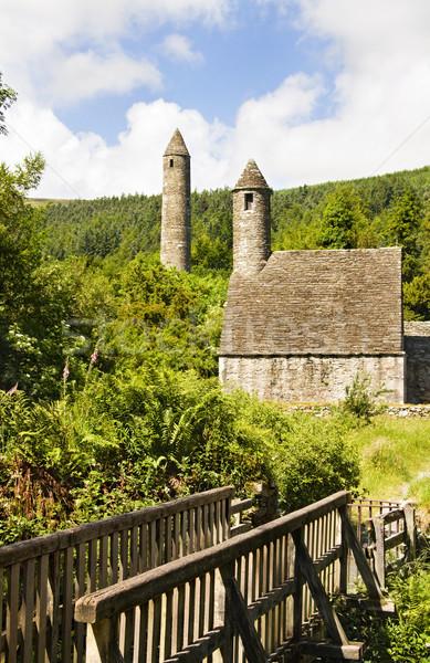 Saint Kevin Kitchen - historic monastic settlement at Glendalough Stock photo © Eireann