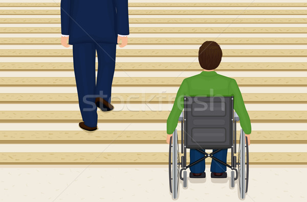 Stock photo: Helpless in a wheelchair