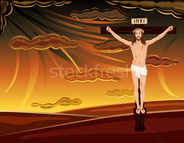 Crucifixion of Jesus on Golgotha Hills Stock photo © Eireann