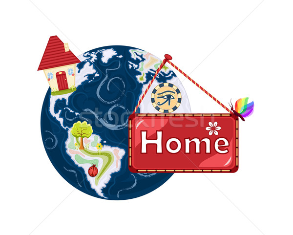 Home Sweet Home - planet Earth Stock photo © Eireann