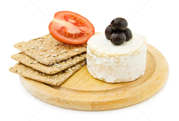 Brie cheese and organic crackers.  Stock photo © Eireann