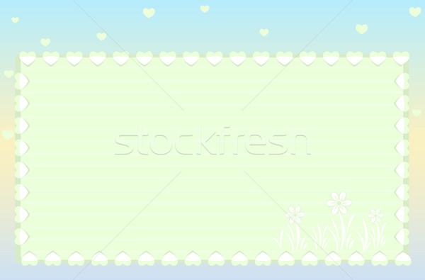 Cartão bastante quarto texto férias eps Foto stock © Eireann