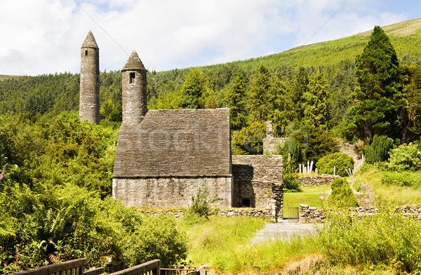 Saint Kevin Church (Kitchen)  is a symbol of Ireland and part of Glendalough (Gleann Da Loch) Herita Stock photo © Eireann