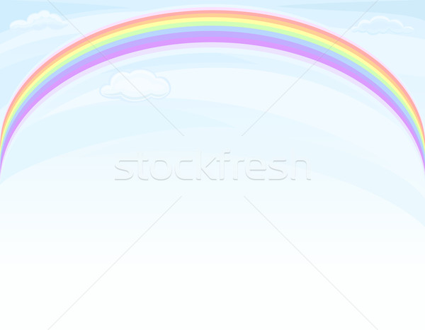Arco-íris blue sky belo natureza cópia espaço vetor Foto stock © Eireann