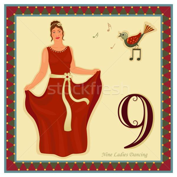 12 クリスマス 日 9 女性 ダンス ストックフォト © Eireann