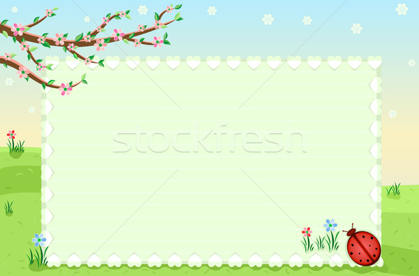 Pretty spring greeting card Stock photo © Eireann