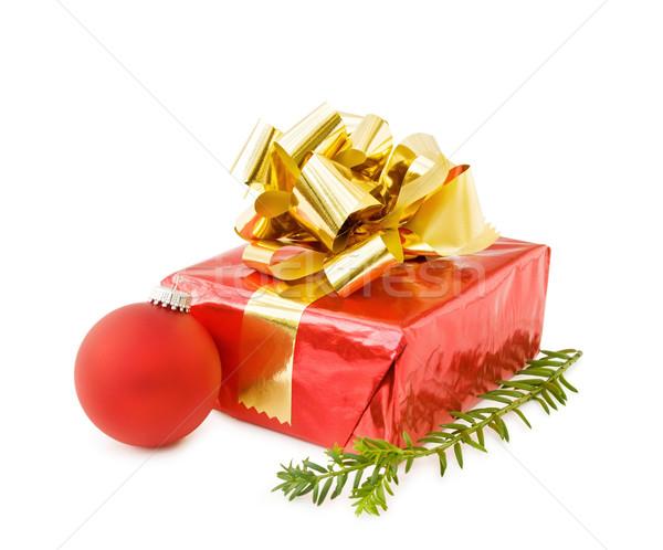 クリスマス 贈り物 赤 安物の宝石 祝う ストックフォト © Eireann