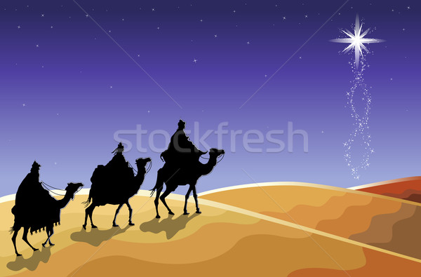 The Three Wise Men and The Star Stock photo © Eireann