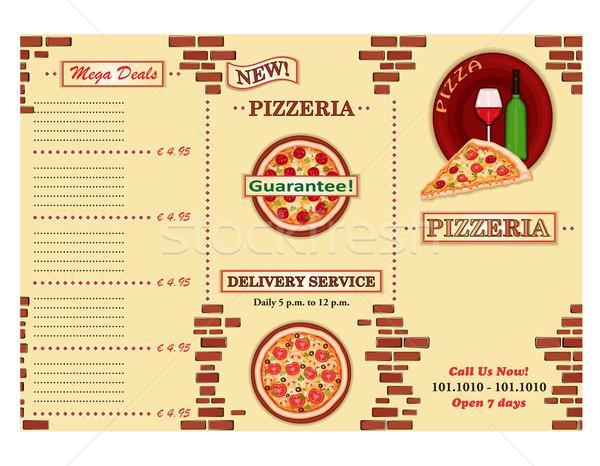 Pizzeria restaurant brochure weg Stockfoto © Eireann