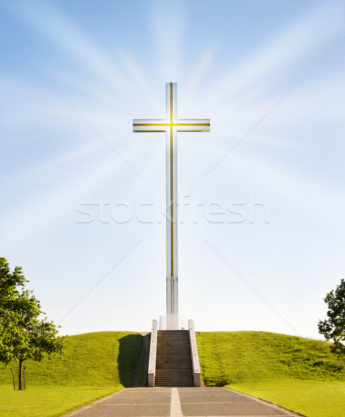 Shining Christian Cross Stock photo © Eireann