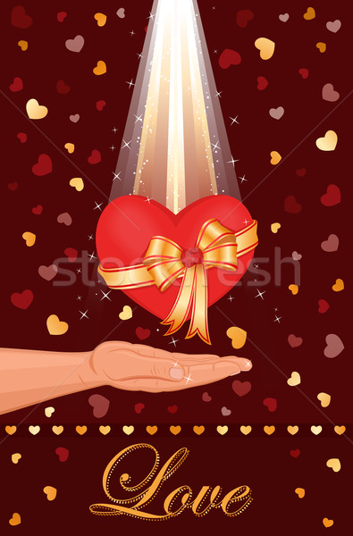 Meu amor coração cartão celebração especial Foto stock © Eireann