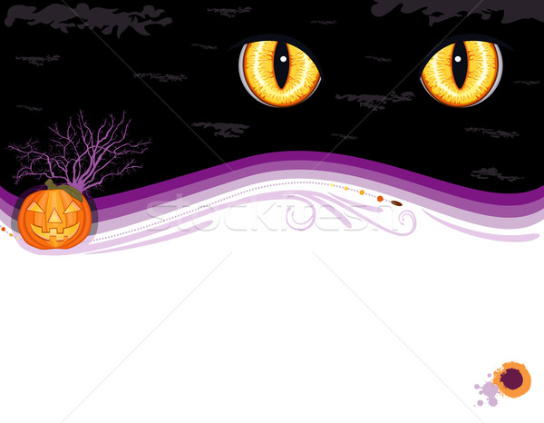 Halloween kart tebrik kartı sevimli Stok fotoğraf © Eireann