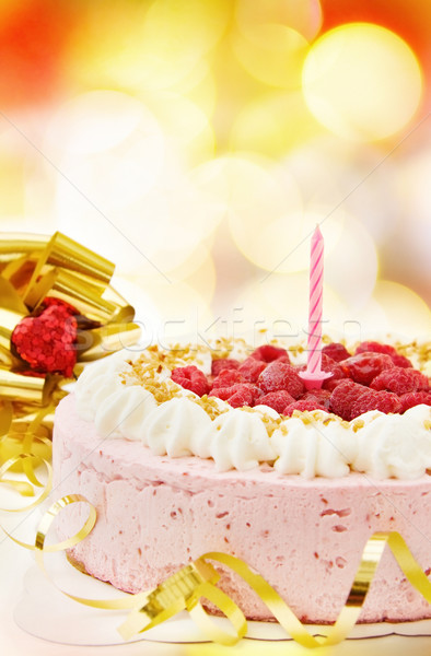 Festive raspberry cake  Stock photo © Eireann