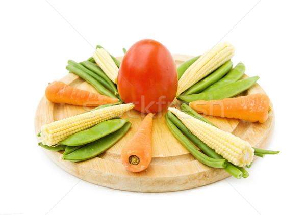 Taze sebze sağlıklı pişirme bebek havuç Stok fotoğraf © Eireann