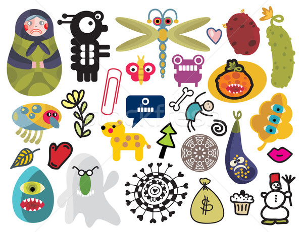Stock photo: Mix of different vector images and icons. vol.24