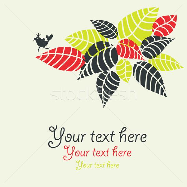 Design flore oiseau arbre résumé nature Photo stock © ekapanova
